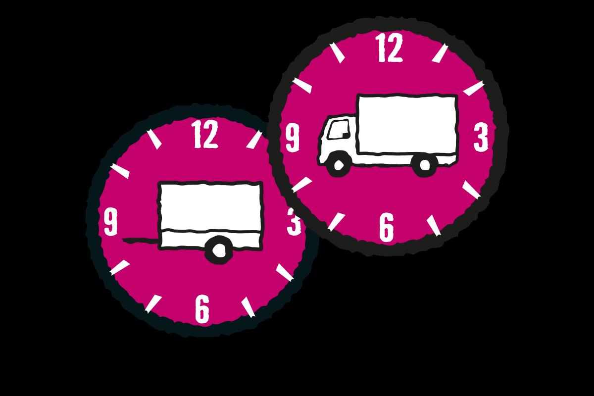 Hyr lastbil och låna släp
