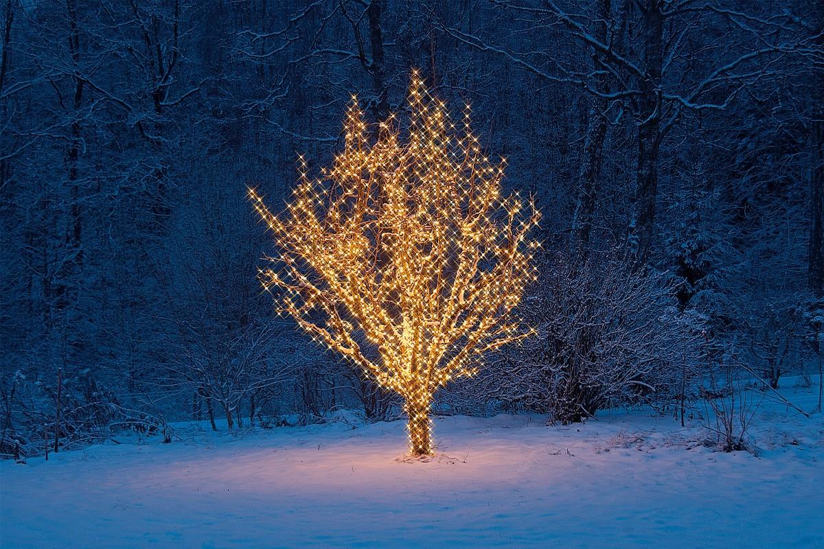 Julbelysning på HORNBACH
