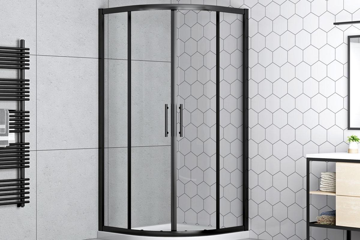 Svarta duschdörrar