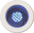 Decklight BRILLIANT Cosa 15 LED 10x0,05W Ø 30/22mm IP44 rostfritt stål/blå 10 pack