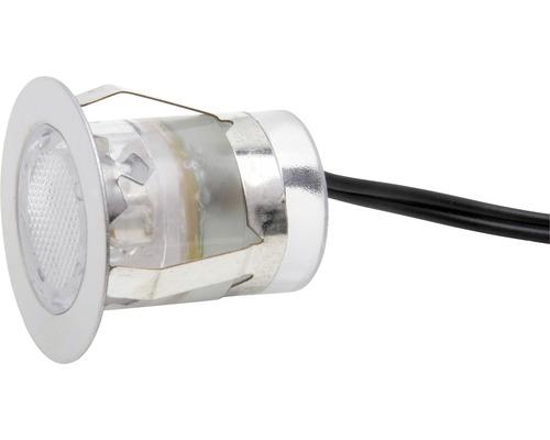 Decklight BRILLIANT Cosa 30 LED 10x0,45W Ø 30/22mm IP44 rostfritt stål/vit 10 pack