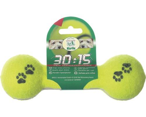Hundleksak KARLIE tennishantel 20cm gul