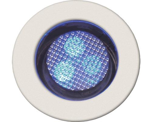 Decklight BRILLIANT Cosa 30 LED 10x0,05W Ø 30/22mm IP44 rostfritt vit/blå 10 pack