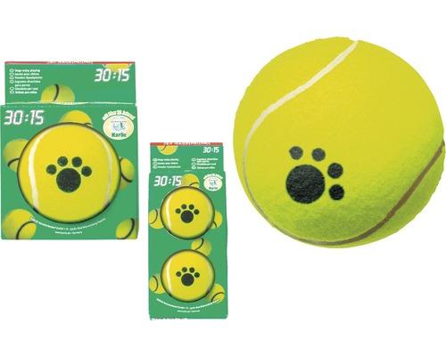 Hundleksak KARLIE tennisboll 2st 6cm gula