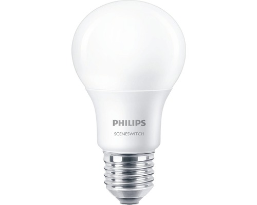PHILIPS Ljuskälla LED Scene Switch 8W E27 WW 806 lm