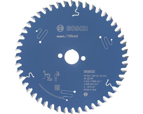 Cirkelsågklinga BOSCH Expert for Wood Ø 160x20mm Z 48