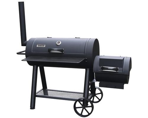 Rök/kolgrill TENNEKER® Smoker XL 98x44cm med skorsten och locktermometer
