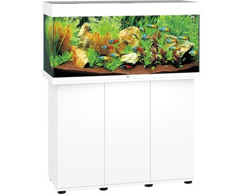 Akvariumkombination JUWEL Rio 180 SBX med LED-belysning, värmare, filter och underskåp vit