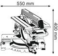 Kap- och gersåg BOSCH PROFESSIONAL GTM 12 JL inkl. sågklinga och skjutanhåll