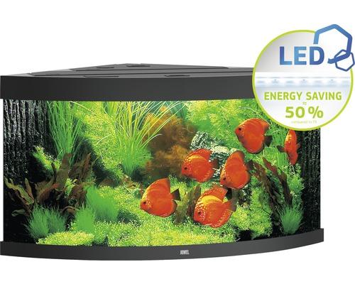 Hörnakvarium JUWEL Trigon 350 LED svart