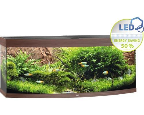 Akvarium JUWEL Vision 450 LED mörkt trä