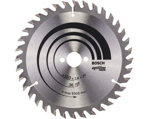 Cirkelsågklinga BOSCHOptiline Wood 160x20mm 12Z