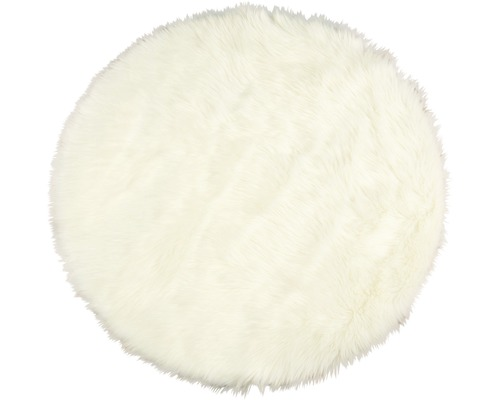 Fällmatta syntet rund vit Ø100 cm