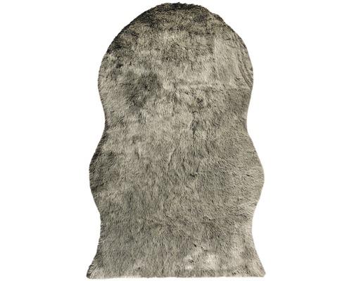 Fäll matta Shape syntet svart 140x200 cm
