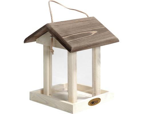 Fågelbord trä/akryl 25x21x28cm vit