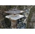 Fågelbord med fodersilo 35x35x25cm vit