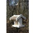 Fågelbord trä/akryl 24x21x22cm vit