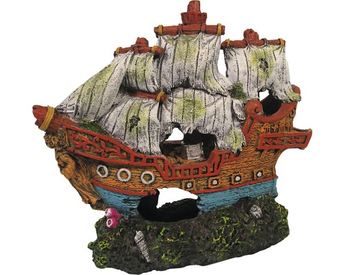 Akvariedekoration segelbåt 15cm
