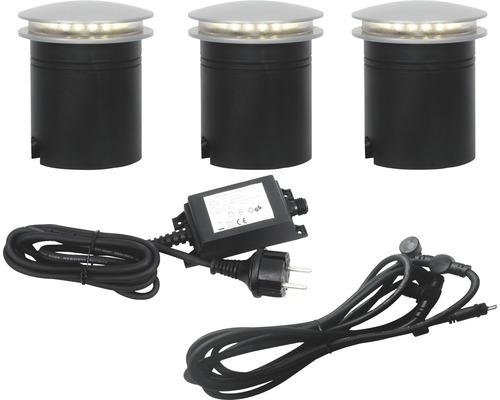 MALMBERGS LED Mark- och golvspotset Bohus, 3 x 1,5W, integrerade ljuskällor, IP67, 99771545