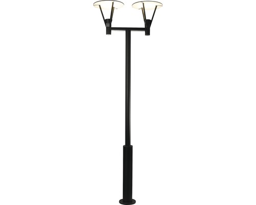 MALMBERGS LED stolplykta Eklof grå, 2 x 14,3W, integrerade ljuskällor, IP54, 9977102