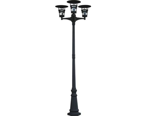 Stolplykta MALMBERGS Torekov LED 3x15W, integrerade ljuskällor IP44 svart 7722718
