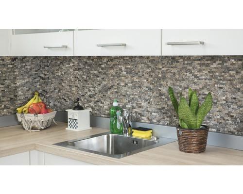 Mosaik natursten marmor XNC 3D76 ljusbrun 30,5x30,5 cm