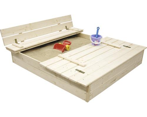 Sandlåda JABO 120x120cm med lock och bänk