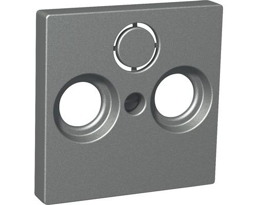 SCHNEIDER Exxact centrumplatta för antennuttag 2 + 1, antracit, 6070106