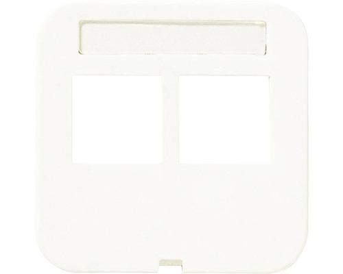 SCHNEIDER Trend centrumplatta Actassi 2x8-p, vit, 5102517