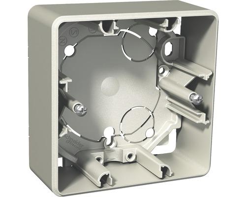 SCHNEIDER Exxact utanpåliggande dosa 35 mm, 1-fack, metallic, 1820991
