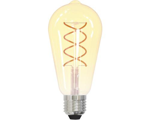 LED-lampa FLAIR E27/4W(25W) ST64 spiral amber 245lm 2200K varmvit