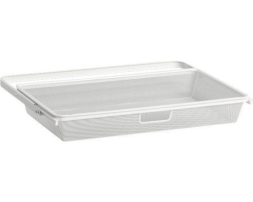 ELFA Utdragbar meshback för 30 cm konsoler, HxB 82x605 mm, vit, 236490