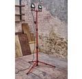 Strålkastarstativ Worklight LED 2x15W svart/röd 2-lågig 2x1200lm 5000K neutralvit