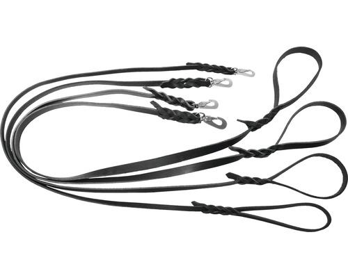 Koppel läder 1,8x180cm svart