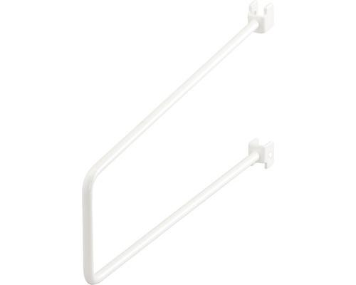 Bokstöd ELFA för skena 75x250mm vit, 465110