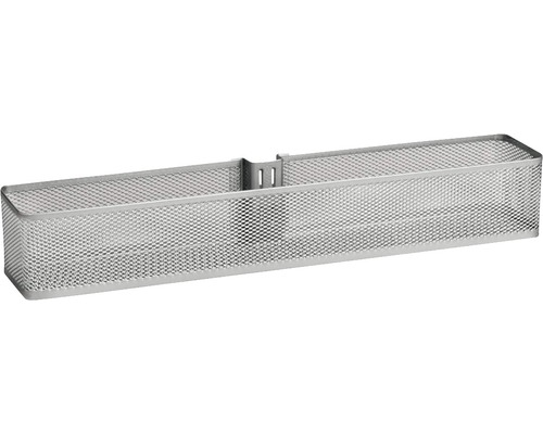 Dörr- och väggkorg ELFA mesh liten platinum, 333288