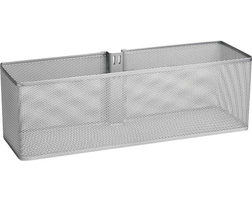 Dörr- och väggkorg ELFA mesh stor platinum, 333088