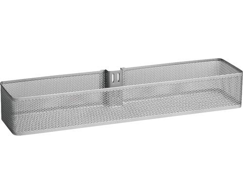 Dörr- och väggkorg ELFA mesh mellan platinum, 333188