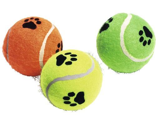 Hundleksak KARLIE tennisboll med pipljud Ø6cm 3-pack