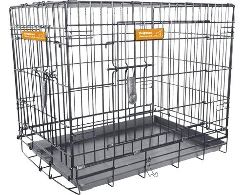 Hundbur DOGMAN 92,5x57,5x65,5cm svart