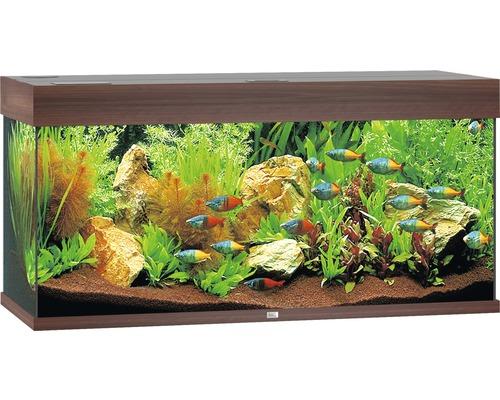 Akvarium JUWEL Rio 180 LED mörkt trä underskåp ingår ej