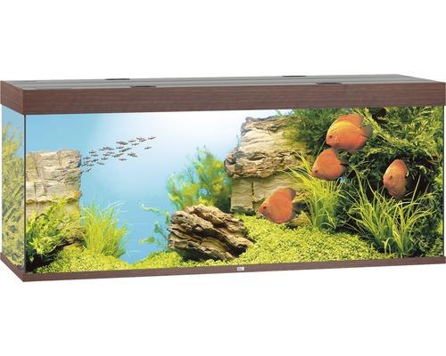 Akvarium JUWEL Rio 450 LED mörkt trä underskåp ingår ej