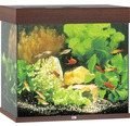 Akvarium JUWEL Lido 120 LED mörkt trä underskåp ingår ej