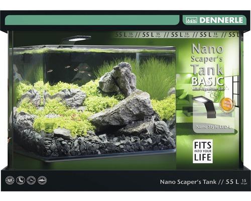 Akvarium DENNERLE Nano ScapersTank Basic 55L med Style LED-belysning, filter, underlägg