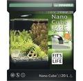 Akvarium DENNERLE Nano Cube Basic 20L inkl. Style LED-belysning, filter, underlägg, bakgrundsfolie