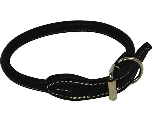 Halsband rundsytt vit söm 0,8x50cm svart