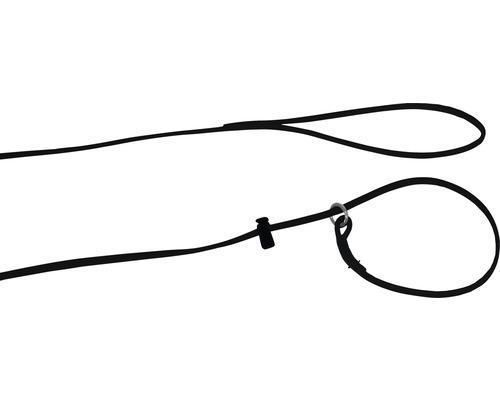 Koppel läder 0,6x160cm svart