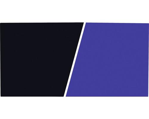 Akvarieplansch 60cm blå/svart