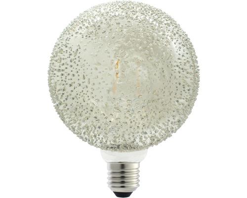 FLAIR LED klotlampa E27/1W(15W) G125 rökfärgat glas 4 droppar 60 lm 2200 K varmvit