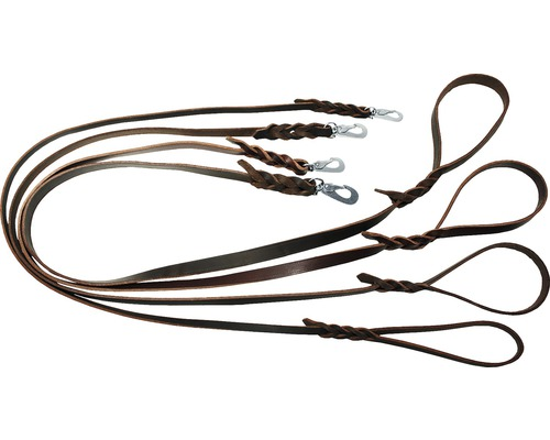 Koppel läder 0,6x180cm mörkbrun